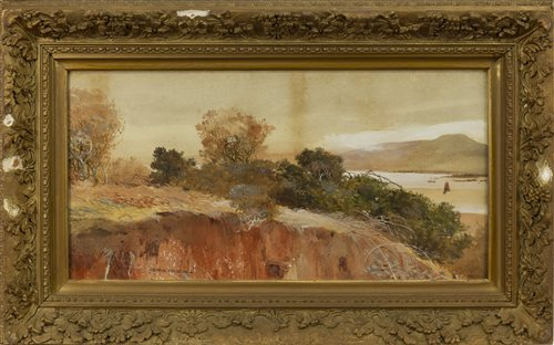 Lot 501 - AUTUMNAL LANDSCAPE, A WATERCOLOUR BY GEORGE HOUSTON