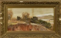 Lot 501-AUTUMNAL LANDSCAPE, A WATERCOLOUR BY GEORGE HOUSTON