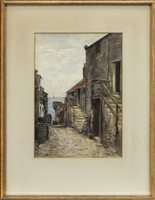 Lot 472-NEWHAVEN, A WATERCOLOUR BY WILLIAM MARSHALL BROWN