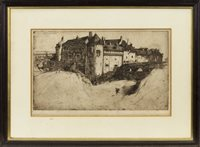 Lot 474-DIEPPE CASTLE, AN ETCHING BY SIR DAVID YOUNG CAMERON