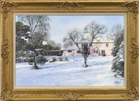 Lot 484-WINTER LANDSCAPE, AN OIL BY CLIVE MADGWICK
