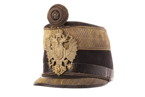 Lot 982-AN AUSTRIAN OFFICERS' 5TH REGT. SHAKO