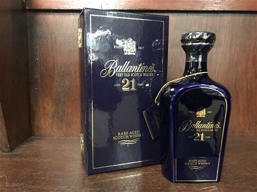 Lot 18-BALLANTINE'S AGED 21 YEARS