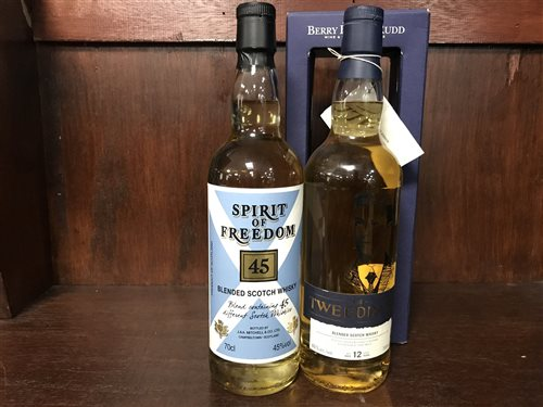 Lot 21-SPIRIT OF FREEDOM 45 AND THE TWEEDDALE AGED 12 YEARS