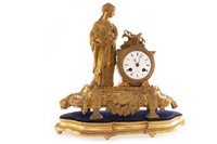 Lot 1416-A VICTORIAN FRENCH FIGURAL MANTEL CLOCK
