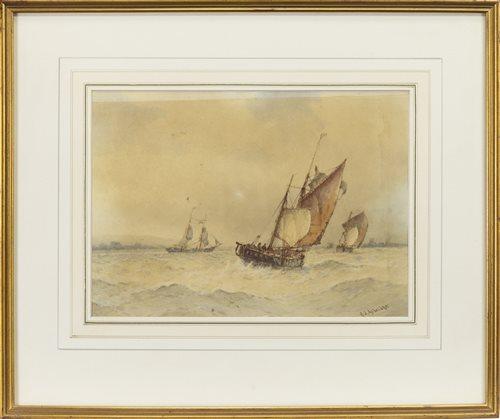 Lot 519-APPROACHING SHOREHAM HARBOUR, BY FREDERICK JAMES ALDRIDGE