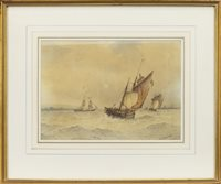 Lot 519-APPROACHING SHOREHAM HARBOUR, BY FREDERICK JAMES ALDRIDGE