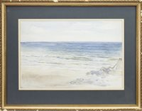 Lot 523-A COASTAL SCENE, POSSIBLY MACHRIHANISH, BY WILLIAM MCTAGGART
