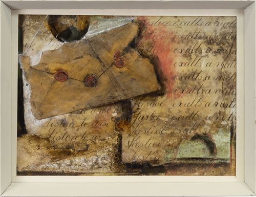 Lot 524 - AN UNTITLED COLLAGE, IN THE MANNER OF KURT SCHWITTERS