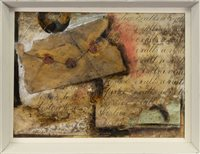 Lot 524-AN UNTITLED COLLAGE, IN THE MANNER OF KURT SCHWITTERS