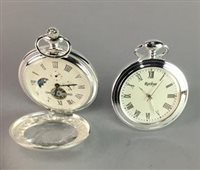 Lot 18-A LOT OF FOUR MODERN SILVER PLATED POCKET WATCHES