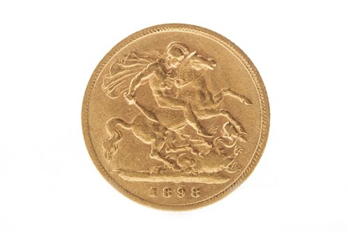Lot 512-A GOLD HALF SOVEREIGN, 1898