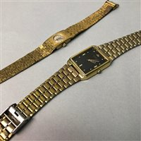Lot 22-NINE CARAT GOLD NECKLET AND TWO WATCHES