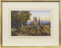Lot 533 - WORDSWORTH'S RESTING PLACE, A WATERCOLOUR BY WALLER HUGH PATON
