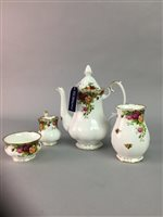 Lot 44-A ROYAL ALBERT 'OLD COUNTRY ROSES' PATTERN COFFEE SERVICE