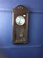 Lot 38-AN EDWARDIAN WALL CLOCK