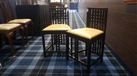 Lot 37-A PAIR OF EBONISED SINGLE CHAIRS IN THE MANNER OF CHARLES RENNIE MACKINTOSH