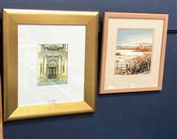 Lot 36-TWO SIGNED WATERCOLOURS BY ERIC DOIG AND ALISTAIR ANDERSON
