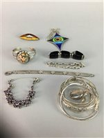 Lot 24-A COLLECTION OF SILVER JEWELLERY