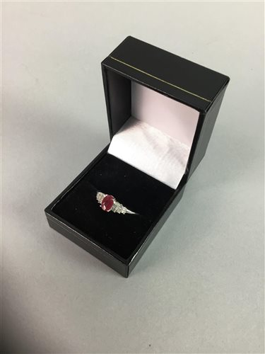 Lot 4-ART DECO STYLE RUBY AND DIAMOND RING