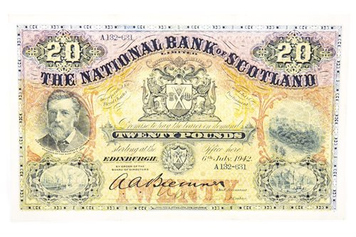 Lot 513-THE NATIONAL BANK OF SCOTLAND £20 NOTE, 1942