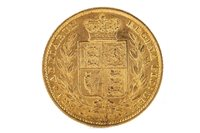 Lot 514-A GOLD SOVEREIGN, 1857