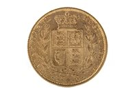Lot 516-A GOLD SOVEREIGN, 1855