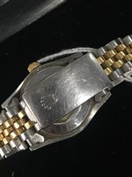 Lot 763 - A LADY'S ROLEX OYSTER PERPETUAL DATEJUST WRIST WATCH