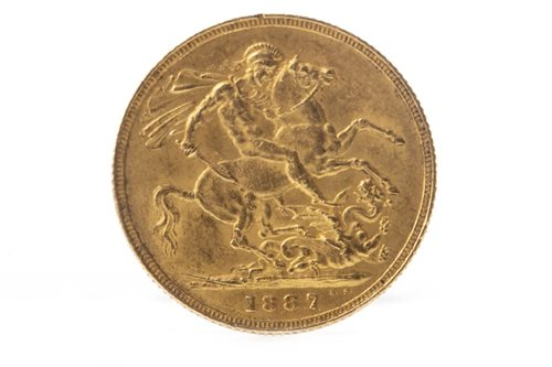Lot 518-A GOLD SOVEREIGN, 1887