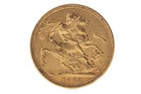 Lot 528-A GOLD SOVEREIGN, 1878