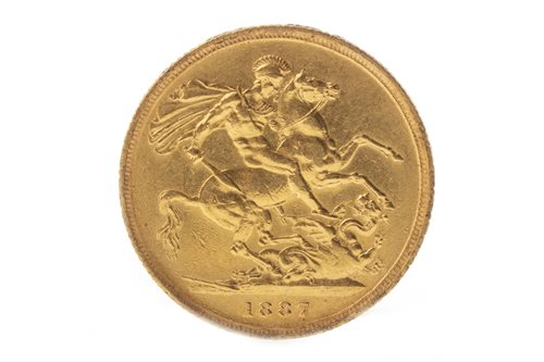 Lot 521-A GOLD SOVEREIGN, 1887