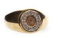 Lot 56 - A GENTLEMAN'S DIAMOND SET RING