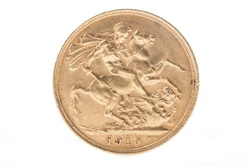 Lot 522-GOLD SOVEREIGN, 1910