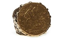 Lot 126-A GOLD SOVEREIGN RING