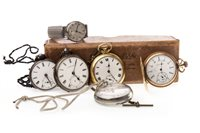 Lot 760-A COLLECTION OF POCKET WATCHES AND A WRIST WATCH