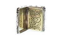 Lot 853 - AN ATTRACTIVE VICTORIAN SILVER VINAIGRETTE BY NATHANIEL MILLS
