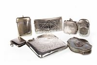 Lot 854 - A LOT OF SILVER AND SILVER PLATED CASES