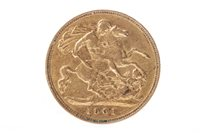 Image for A GOLD HALF SOVEREIGN, 1901