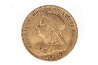 Lot 523-A GOLD HALF SOVEREIGN, 1901