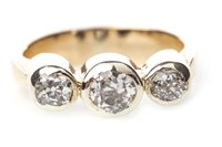 Lot 152-A DIAMOND THREE STONE RING