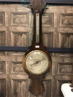 Lot 1418-A 19TH CENTURY ROSEWOOD WHEEL BAROMETER