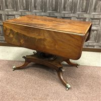 Lot 1606-A 19TH CENTURY MAHOGANY PEMBROKE TEA TABLE