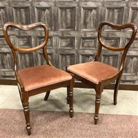 Lot 1613-A SET OF SIX VICTORIAN ROSEWOOD BALLOON BACK SINGLE CHAIRS
