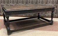 Lot 1614-A VICTORIAN CARVED OAK HALL TABLE OF 17TH CENTURY DESIGN