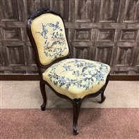 Lot 1615-A VICTORIAN ROSEWOOD PARLOUR CHAIR OF ROCOCO DESIGN
