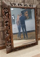 Lot 1621-A VICTORIAN UPRIGHT WALL MIRROR