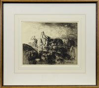 Image for A JERSEY VARIC CART, A DRYPOINT BY EDMUND BLAMPIED