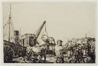 Lot 406-SAN SEBASTIAN, A DRYPOINT BY EDMUND BLAMPIED