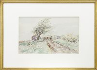 Lot 407-SOUTH WEST END, AYRSHIRE, A WATERCOLOUR BY JAMES MCBEY