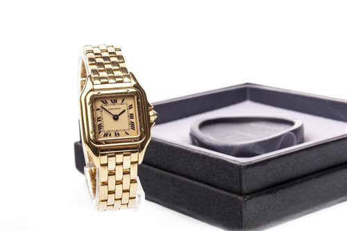 Lot 777-A LADY'S CARTIER PANTHERE EIGHTEEN CARAT GOLD QUARTZ WRIST WATCH